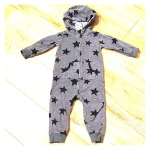 😎 Cool Baby Star Fleece Onsie Hoodie 18M